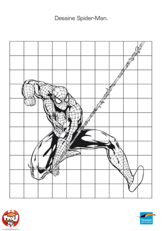Coloriage: Dessine Spiderman