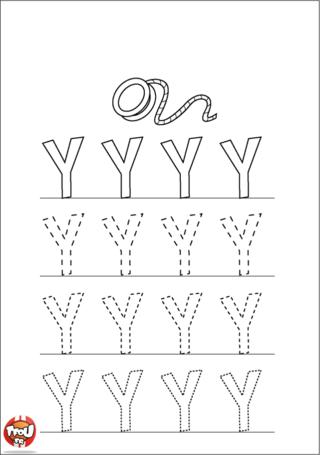 Coloriage: La lettre Y en majuscule