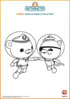 Coloriage Capitaine Barnacles et Kwazi