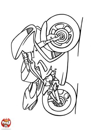 Coloriage: Grosse moto