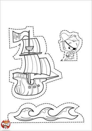 Coloriage: Pirates