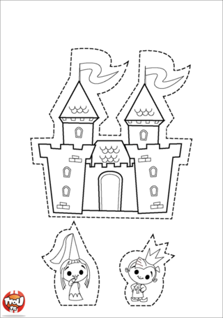 Pin chateaufort coloriage on pinterest - Coloriage de chateau fort ...
