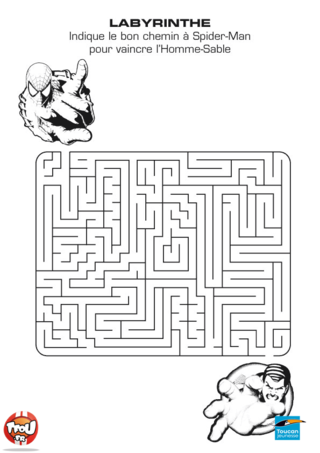 Coloriage: Labyrinthe Spiderman