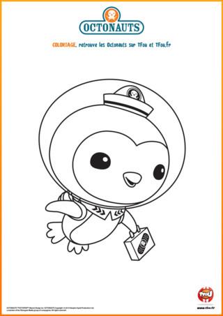 Voici un très beau coloriage à imprimer de Peso. Dans la série pour les petits appelée Les Octonauts, Peso est un super pingouin infirmier dont la famille vie en Antarctique. C'est un aventurier des fonds des mers qui fait partie de l'équipage du Capitaine Barnacles. Avec les autres membres de l'équipage, il part à l'aventure pour explorer l'univers sous-marin et venir en aide à de nombreuses créatures extraordinaires lorsqu'elles en ont besoin. Imprime ce coloriage gratuit sur TFou.fr et met lui des couleurs !