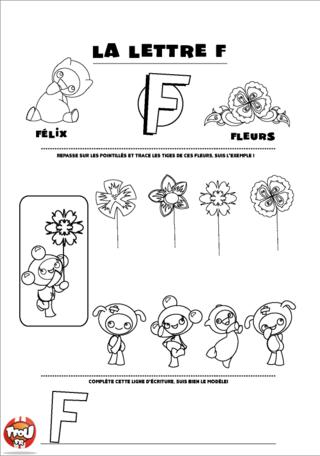 Coloriage: La lettre F