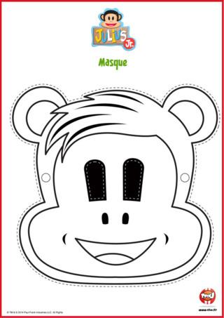 Imprime vite le masque de Tit'Ours, l'un des héros de ta série Julius Jr sur TFou.