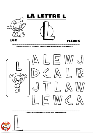 Coloriage: La lettre L