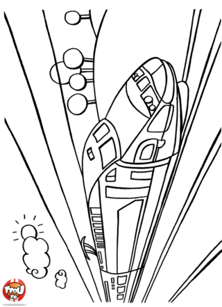 Coloriage: TGV