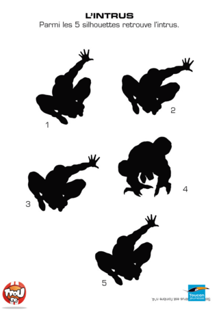 Coloriage: Les silhouettes Spiderman