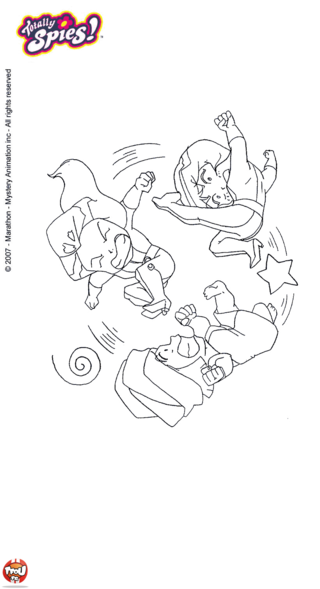 Coloriage: Les Totally Spies se disputent