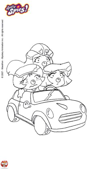 Coloriage: En voiture