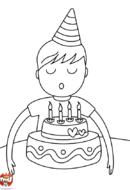 4 bougies à souffler - garçon