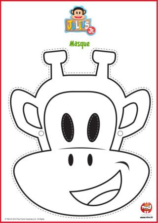 Sur TFou.fr, imprime et découpe ton masque de Clancy, la girafe de ta série Julius Jr !
