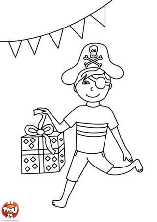 Coloriage : Le cadeau du pirate