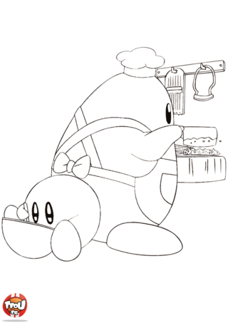 Coloriage: Kirby cuisine