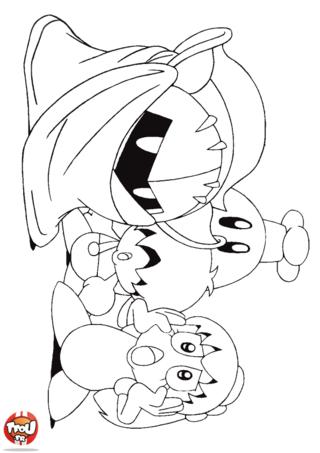 Coloriage: Les amis de Kirby