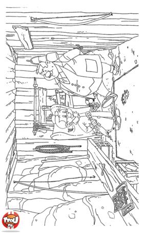 Coloriage: Prudence dans l'atelier