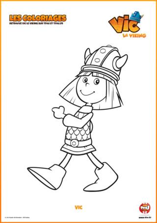 Découvre vite ce coloriage gratuit à imprimer Vic le Viking sur TFou.fr. Vic est un jeune viking très particulier. Contrairement à sa tribu, il ne peut pas utiliser sa force pour résoudre les problèmes. Mais c'est un enfant très astucieux et ingénieux qui utilise beaucoup son intelligence. Il navigue avec son père dans son drakar pour lui donner des idées malicieuses. Pars donc à l'aventure avec Vic en imprimant ce coloriage gratuit pour enfant de la série Vic le Viking !