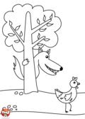 Le loup et la poule