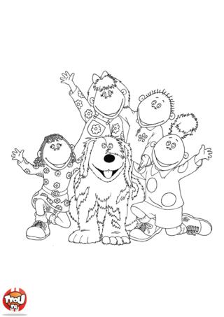 Coloriage: Les Tweenies et Doodles