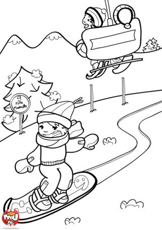Que c'est cool de faire du surf aux sports d'hiver ! Tu dévales les pistes à tout allure. Sur TFou.fr, imprime gratuitement des coloriages sur le ski ou le surf.