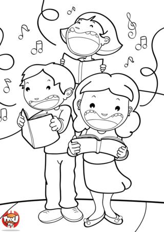 Coloriage: La chorale