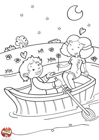 Que c'est romantique une ballade en barque pour fêter la Saint Valentin. Ces deux amoureux sont ravis d'être ensemble et de fêter la Saint Valentin sur TFou.fr.