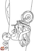 Un motard à lunettes