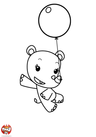 Coloriage: Lulu et son ballon 2