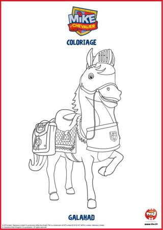 Galahad est le fidèle compagnon de Mike. Ce courageux cheval n'hésite pas à alerter Mike du moindre danger. Mike le chevalier peut toujours compter sur lui. Imprime vite ce coloriage de Galahad sur TFOU.fr