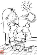 Pique nique avec maman