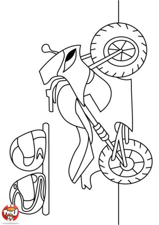 Coloriage: Moto sportive