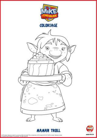 Maman Troll adore faire des gâteaux. Regarde comme celui-ci semble appétissant. Colorie vite toute la famille Troll sur TFOU.fr et retrouve plein d'autres coloriages de Mike le chevalier sur TFou.fr.