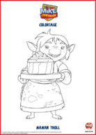 Mike le chevalier - coloriage Maman Troll