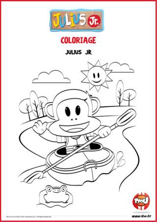 Julius Jr fait du canoë sur la rivières ! Tu as déjà fait du canoë ? C'est très amusant ! Tu peux imprimer gratuitement ce joli coloriage de Julius Jr sur TFou.fr pour t'amuser à colorier la rivière, Julius et son canoë ! A toi de jouer avec tes crayons de couleur ! Imprime ce coloriage hyper sympa gratuitement sur TFou.fr pour pouvoir t'amuser avec Julius Jr !