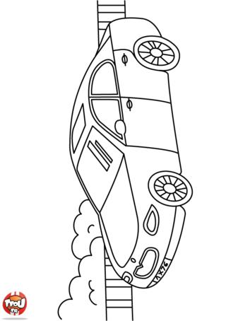 Coloriage: voiture berline