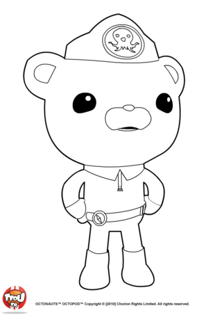 Coloriage: Capitaine Barnacles