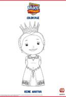 Mike le chevalier - coloriage Reine Martha