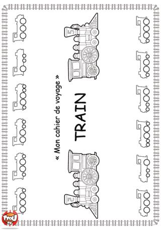 Activité : Couverture cahier d'activités Train. Imprime vite la couverture de ton cahier d'activités sur la thématique des trains.