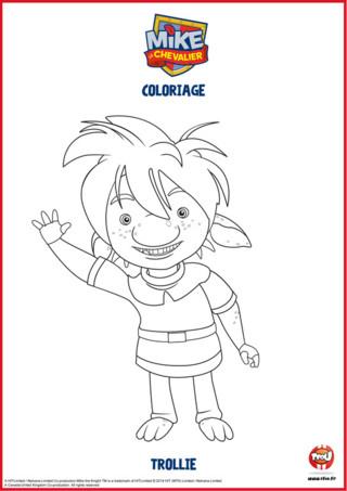 Mike est très ami avec une famille Troll et particulièrement avec Trollie, son ami. Imprime vite tous les coloriages Mike le chevalier sur TFOU.fr.