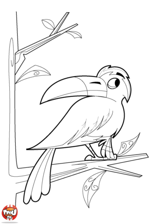 Coloriage: Corbeau