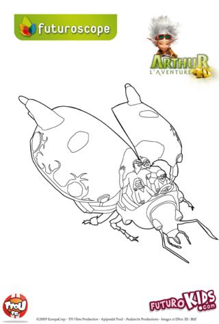 Coloriage: Arthur l'aventure 4D