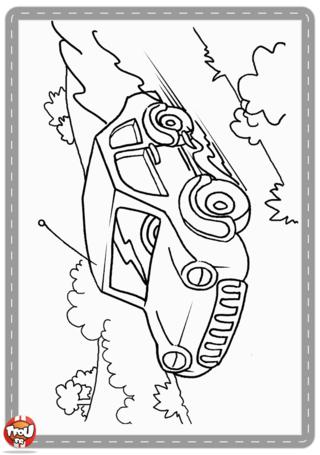 Activité : Coloriage voiture. Imprime cette voiture et dessine un conducteur et ajoute les couleurs de ton choix.
