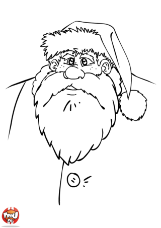 Coloriage: Père Noël
