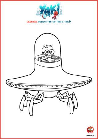 Yaki est un poulpe qui nous vient tout droit de Poulpésie. Cette civilisation vit au fin fond des profondeurs de l'Océan Pacifique. Le Roi de Poulpésie nous envoie Yaki, grand savant de l'Institut Scientifique de Poulpe-City, en exploration, chez nous! Loin d'être un poulpe lambda, Yaki a tout d'un super-héros! Il se déplace en Crabo-mobile. Imprime vite ton coloriage gratuit pour enfant spécial Noël avec Yaki et amuse toi bien !