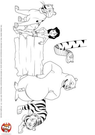Coloriage: Les héros du Livre de la Jungle