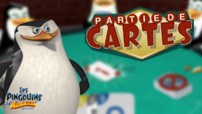 Les Pingouins Madagascar Partie de Carte