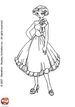 Coloriage: Clover en robe