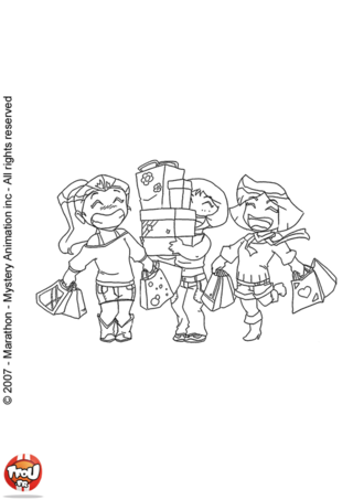Coloriage: Les Totally Spies petites