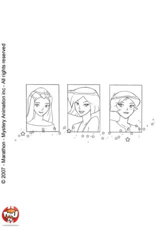 Coloriage: Les trois filles